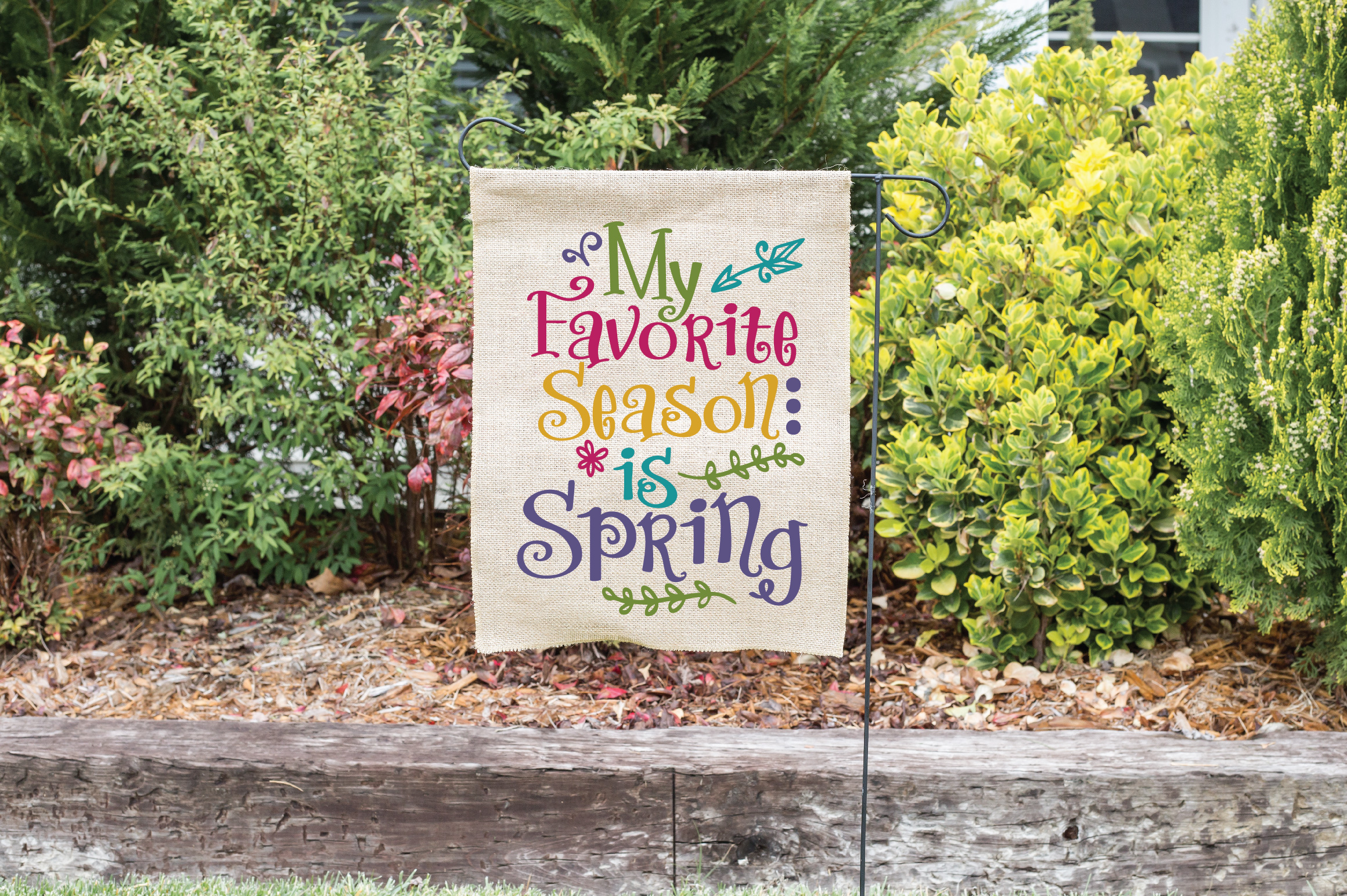 My Favorite Season is Spring SVG Cut File - Spring SVG DXF example image 2