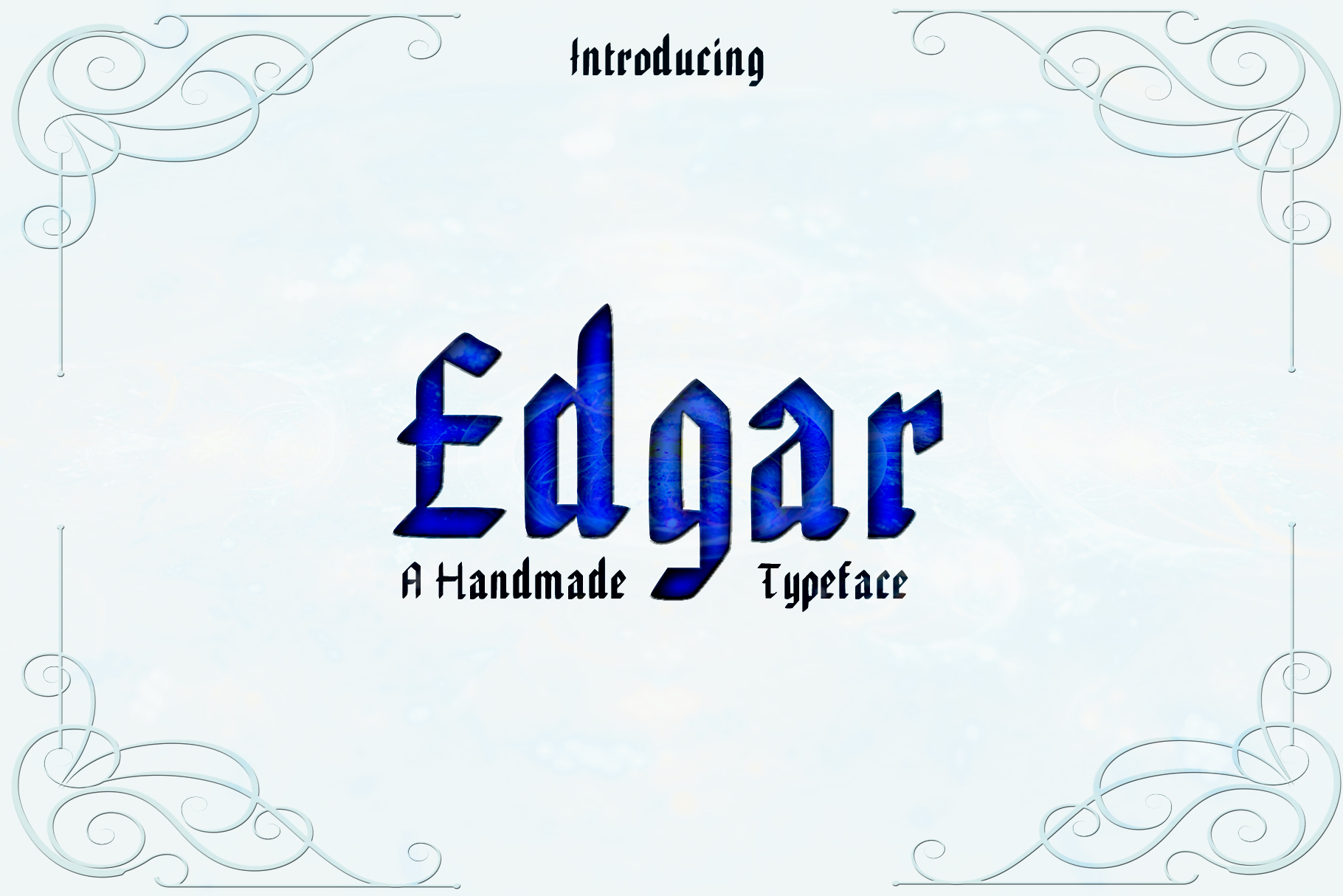 EDGAR, Handmade Gothic Typeface example image 1