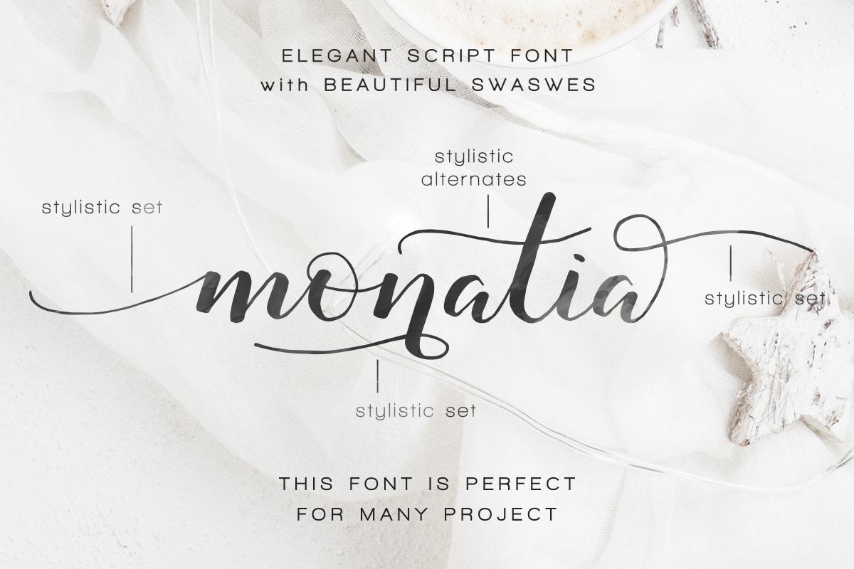 Monatia - Elegant Script example image 7