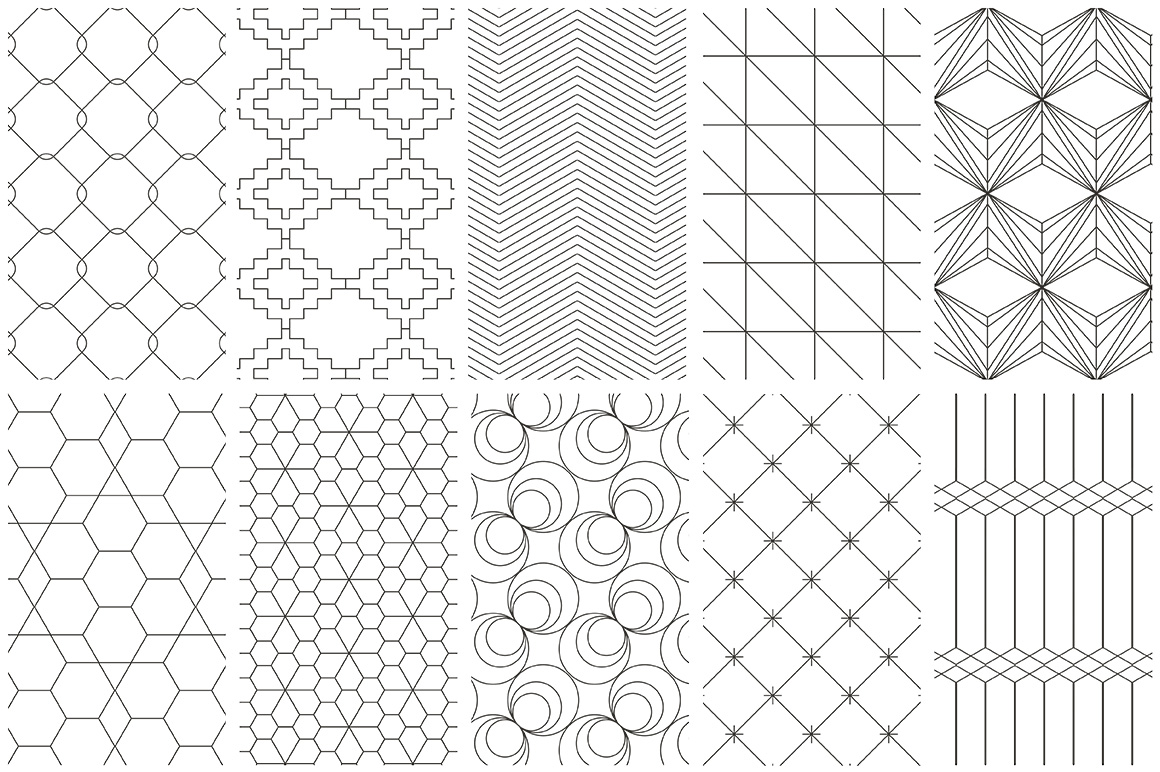 Simple Line Geometric Patterns example image 8