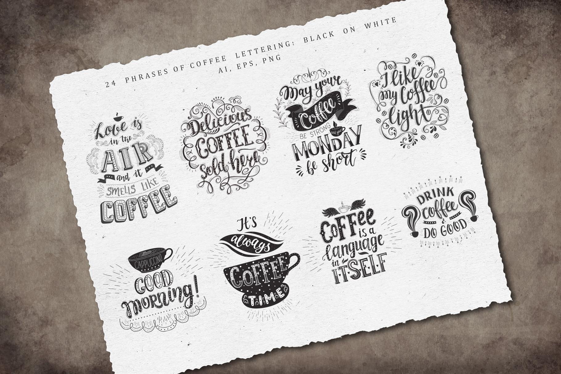 Coffee. Handlettering Quotes. example image 19