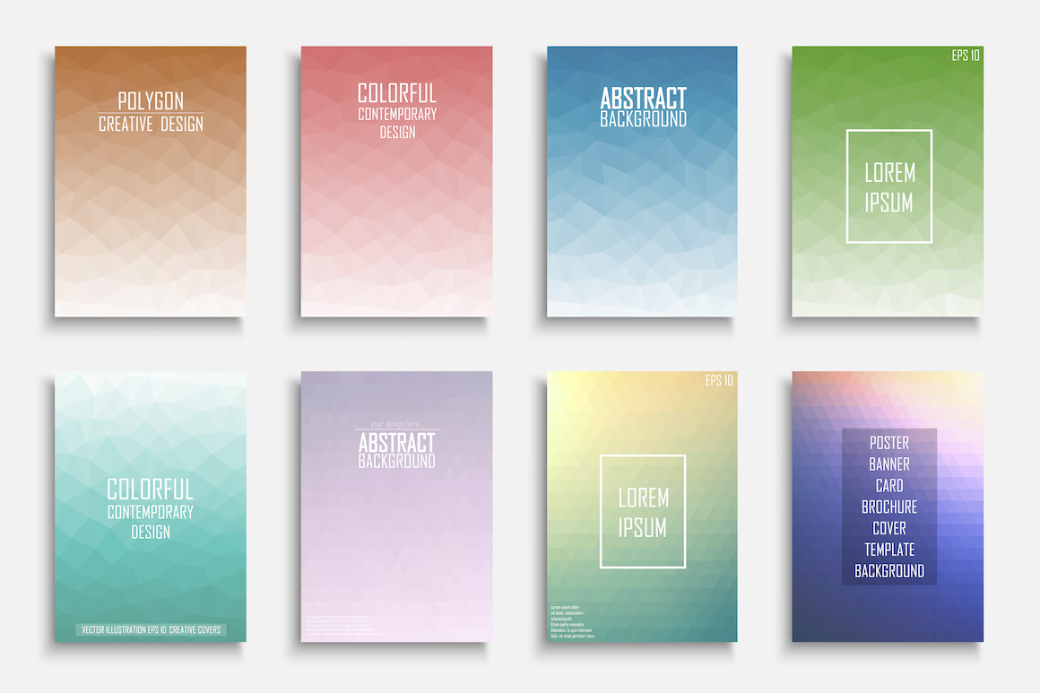 Colorful geometric vector posters example image 1