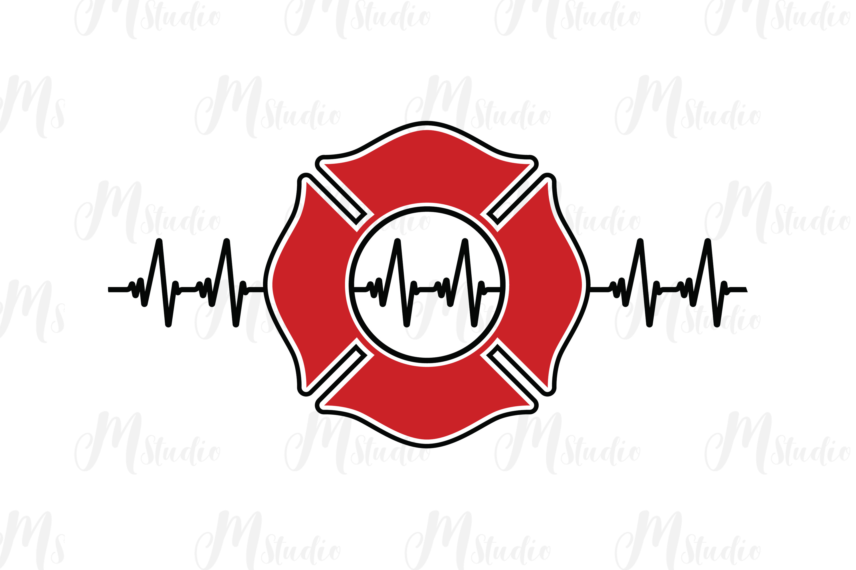 Firefighter SVG bundle example image 5
