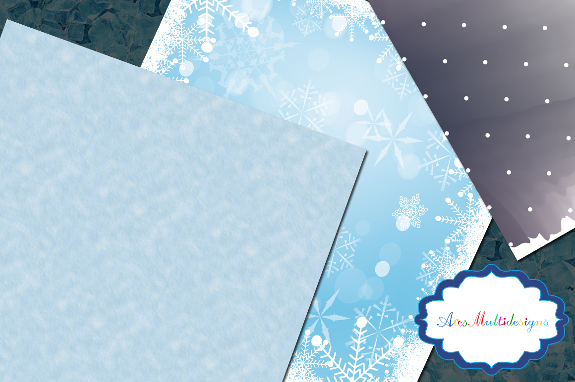 Frozen christmas digital pattern / frozen christmas paper / digital papers / gift wrapper / high quality digital set 12 x 12 example image 3