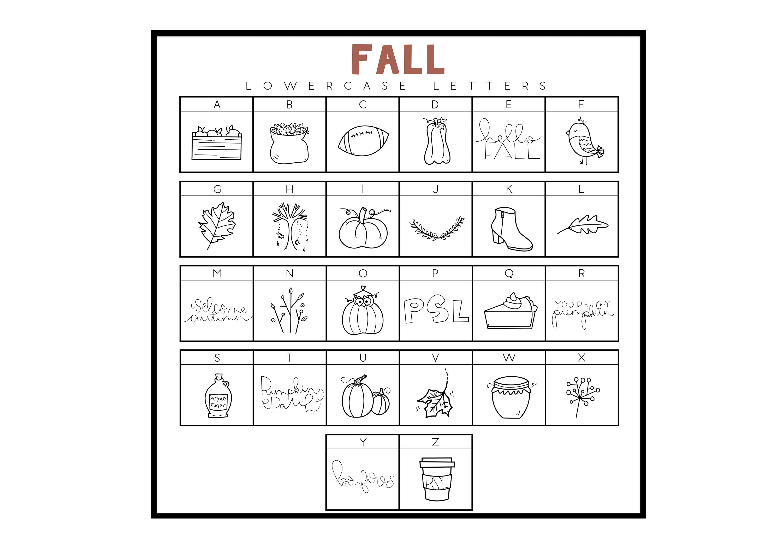Fall Fun - A Fall / Autumn Doodles Font example image 3