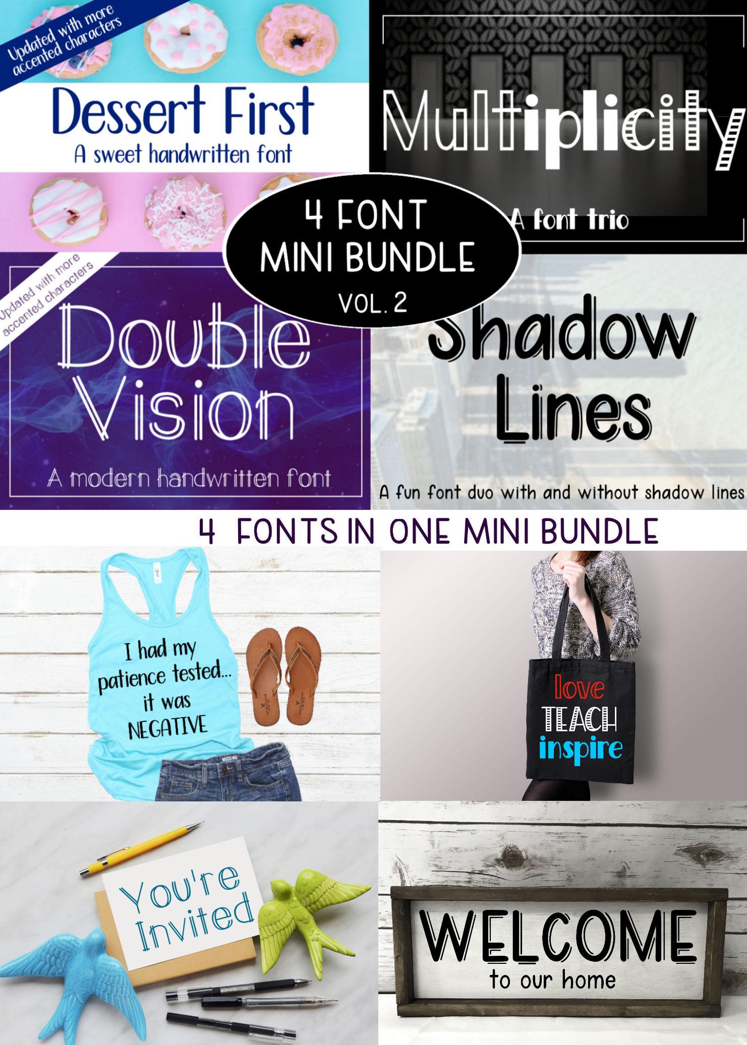 4 Font Mini Bundle - Volume 2 example image 25