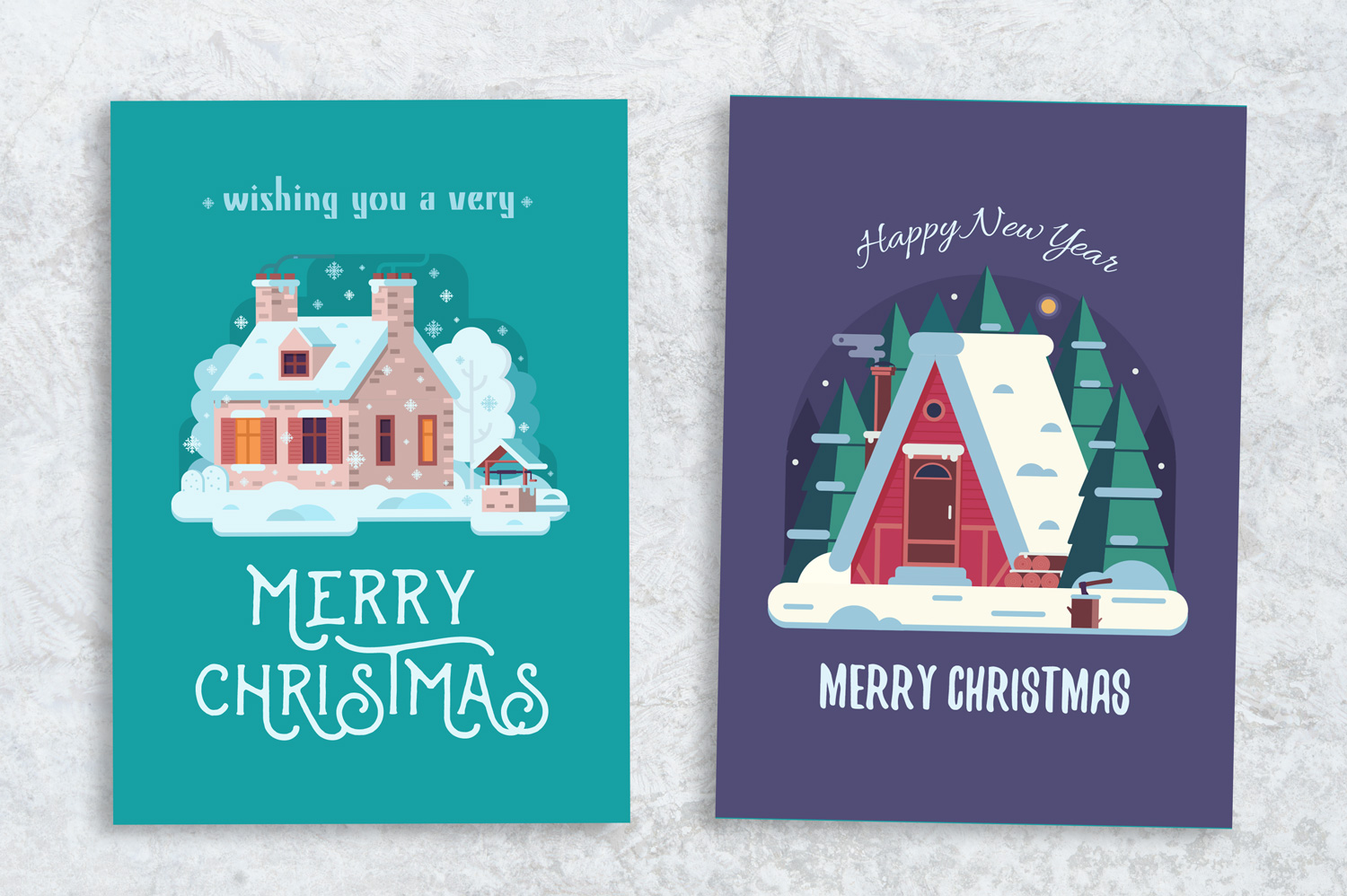 Winter Houses Christmas Cards example image 5