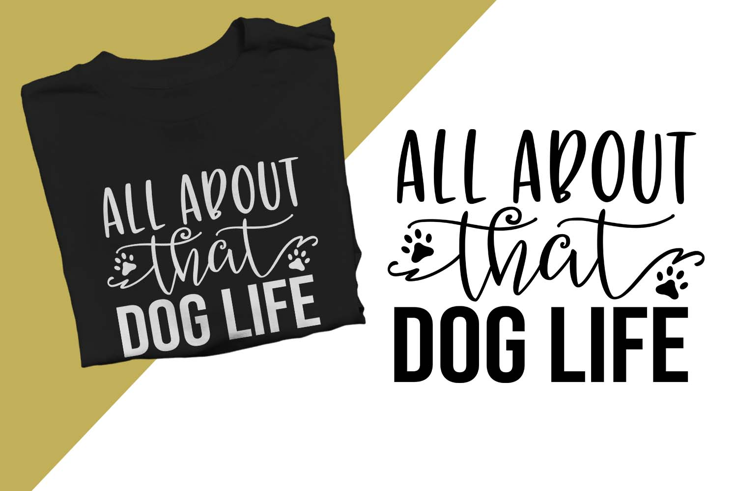 All about that Dog Life Printable example image 1