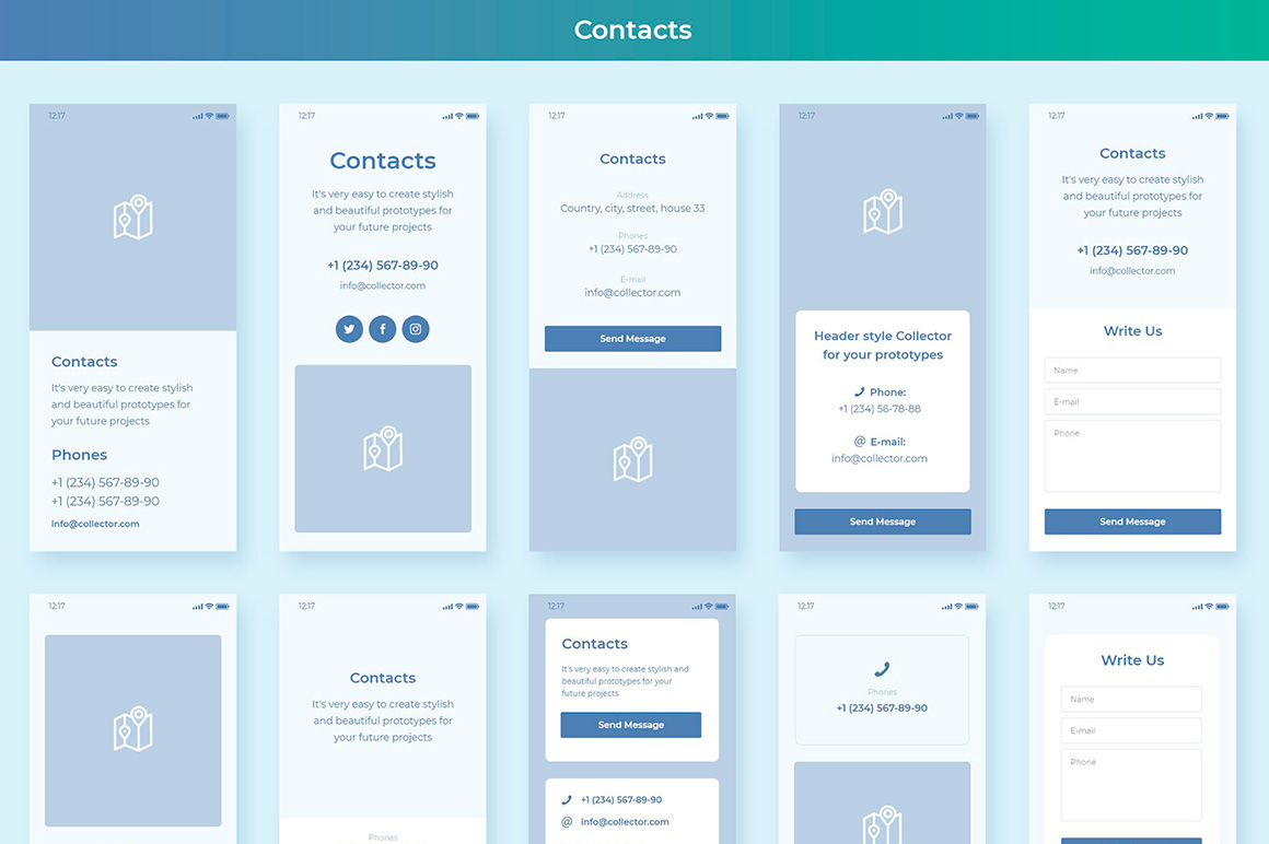 Collector Wireframe Web Kit example image 5