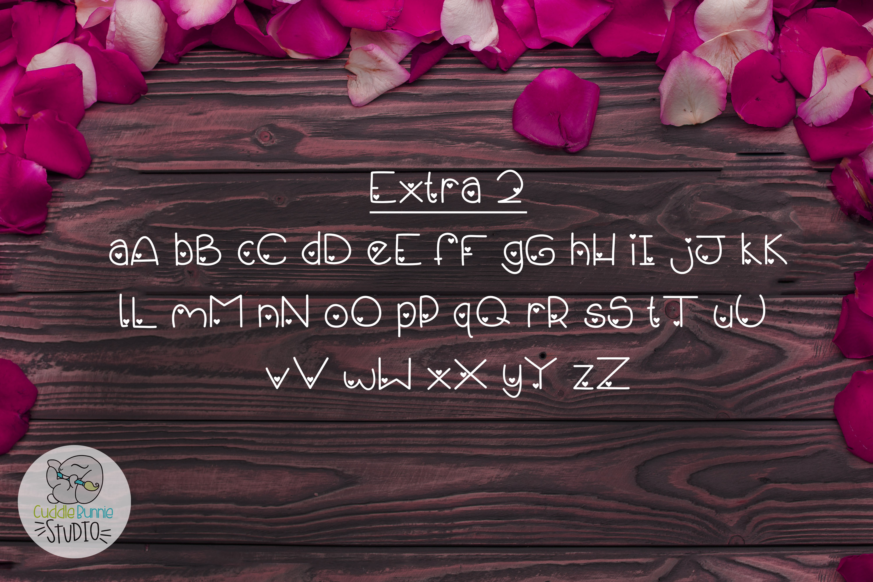 Smothered Rose Petals | A Cute Valentine Font Duo example image 4
