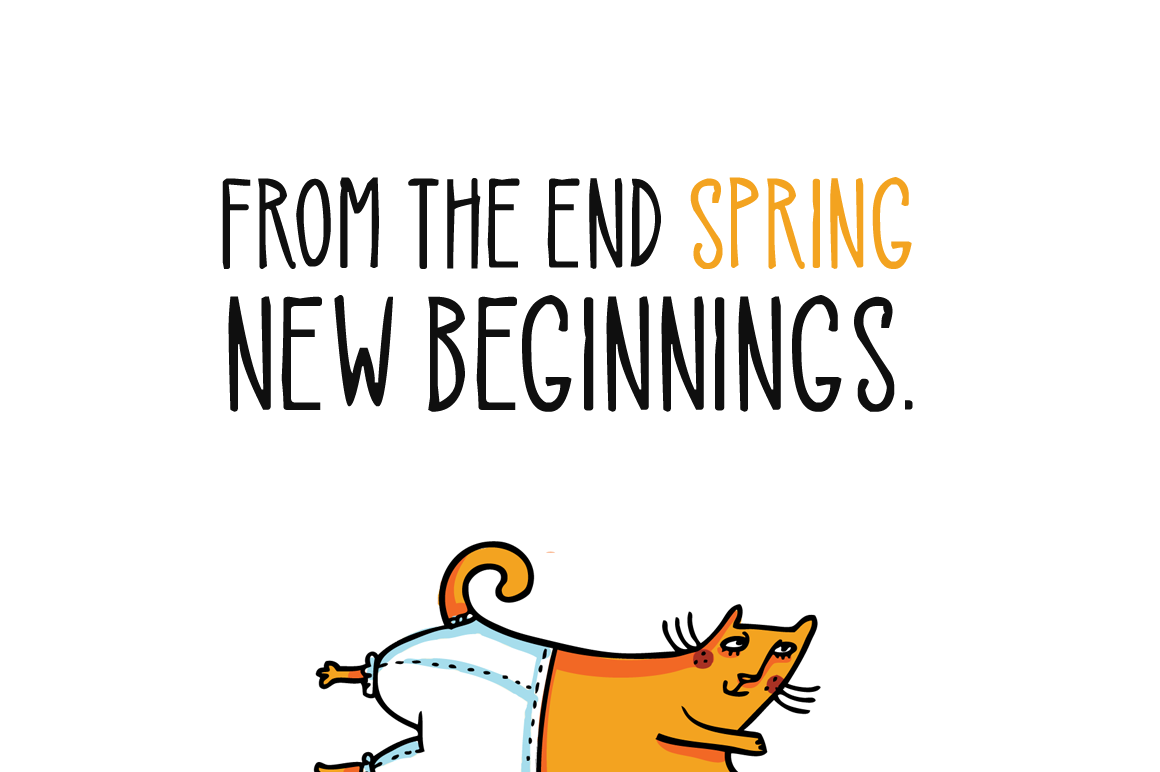 Spring Cats example image 3