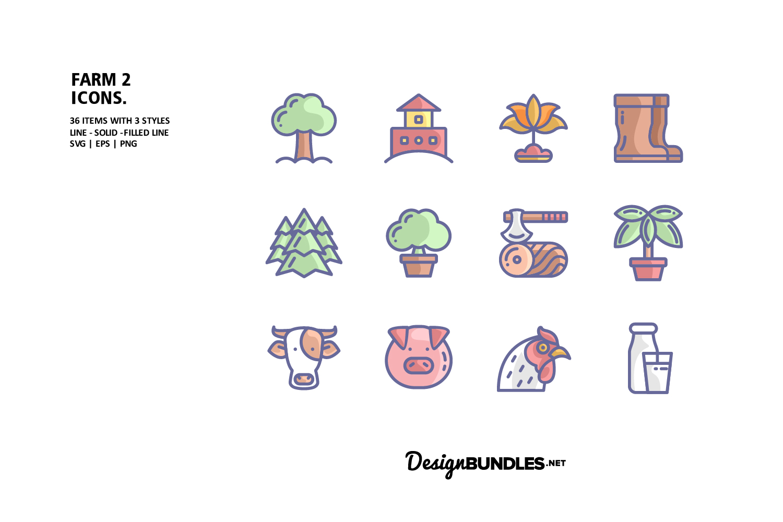 Farm 2 Icons example image 1