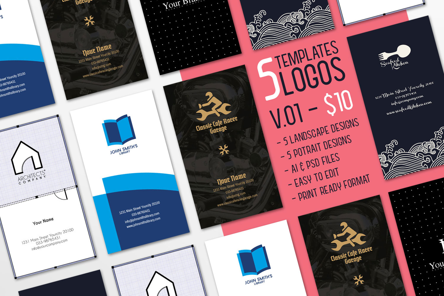 $10 for 5 - Business Card 01 example image 1