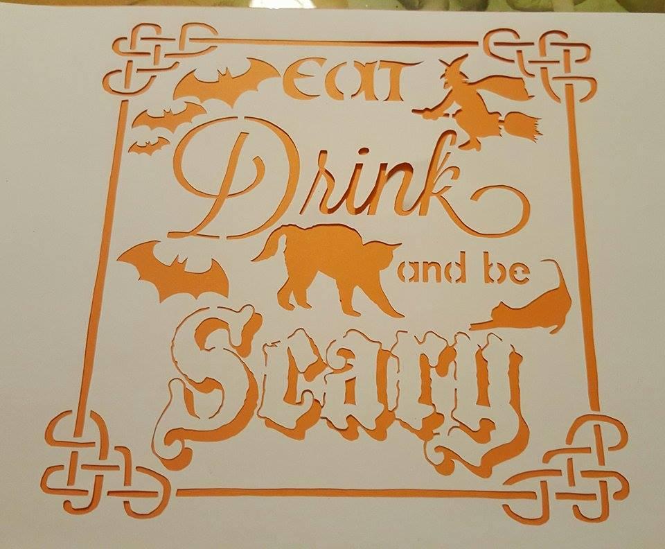 Halloween Papercutting Template Bundle example image 5