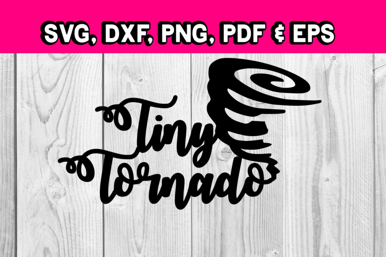 Tiny Tornado - Kids clothing svg files - Toddler shirt ideas example image 1