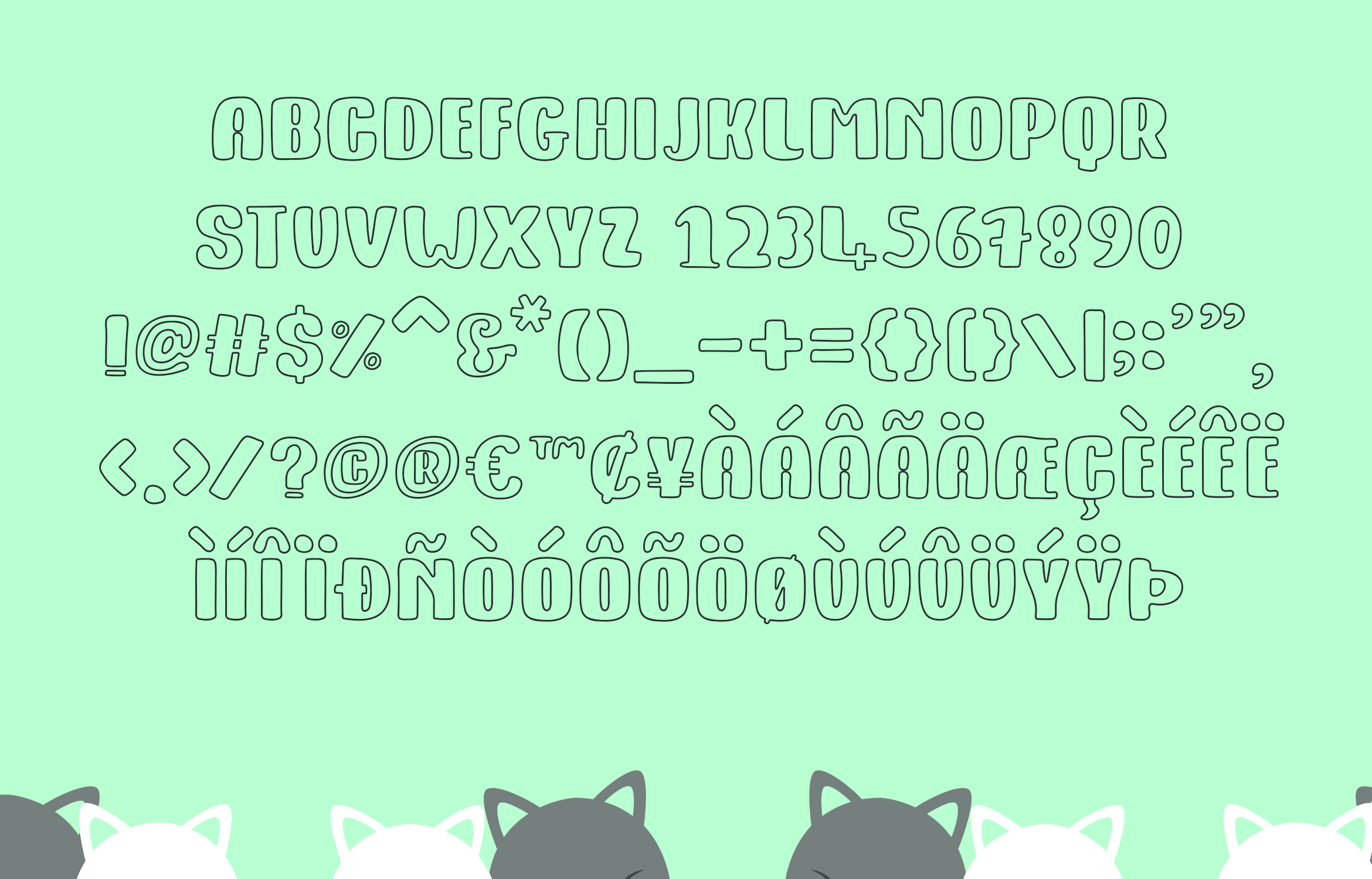 Kitty Fat - Outline example image 4