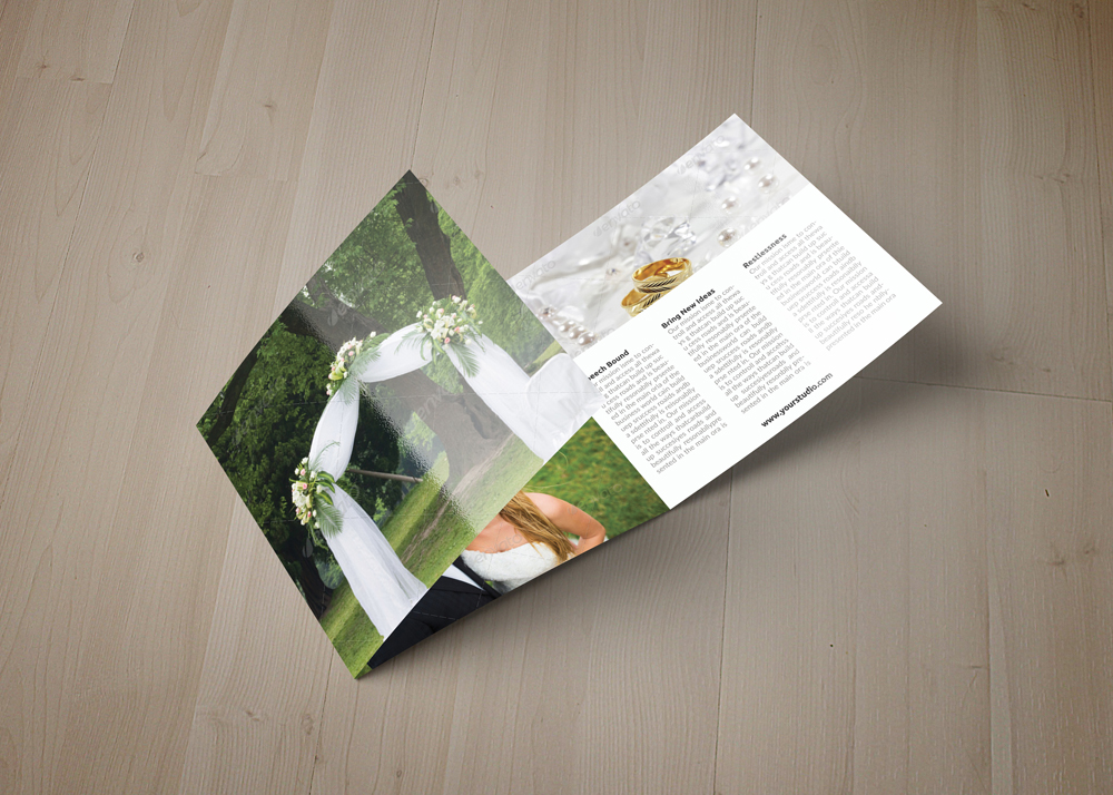 Wedding Planner Square Trifold Brochure example image 3