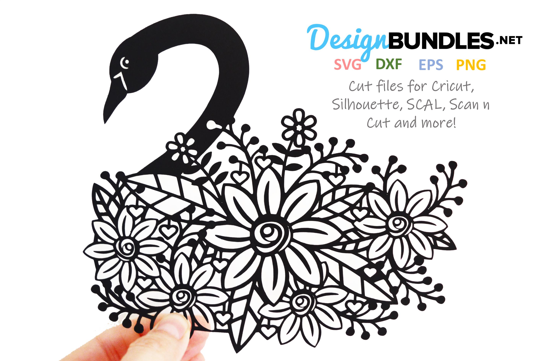 Swan paper cut design example image 1