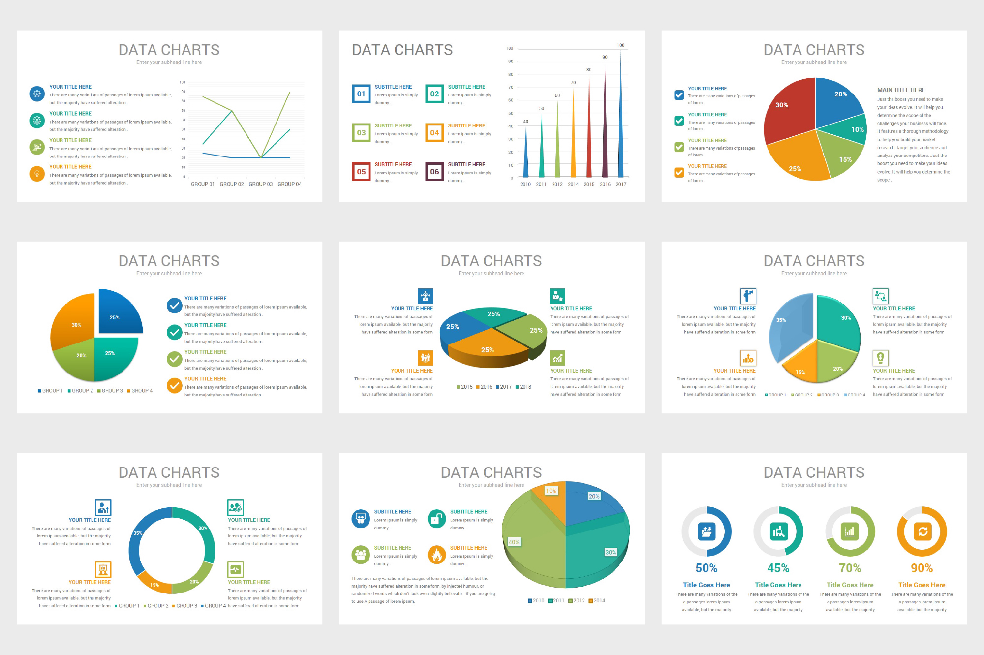 Data Charts PowerPoint Template example image 7