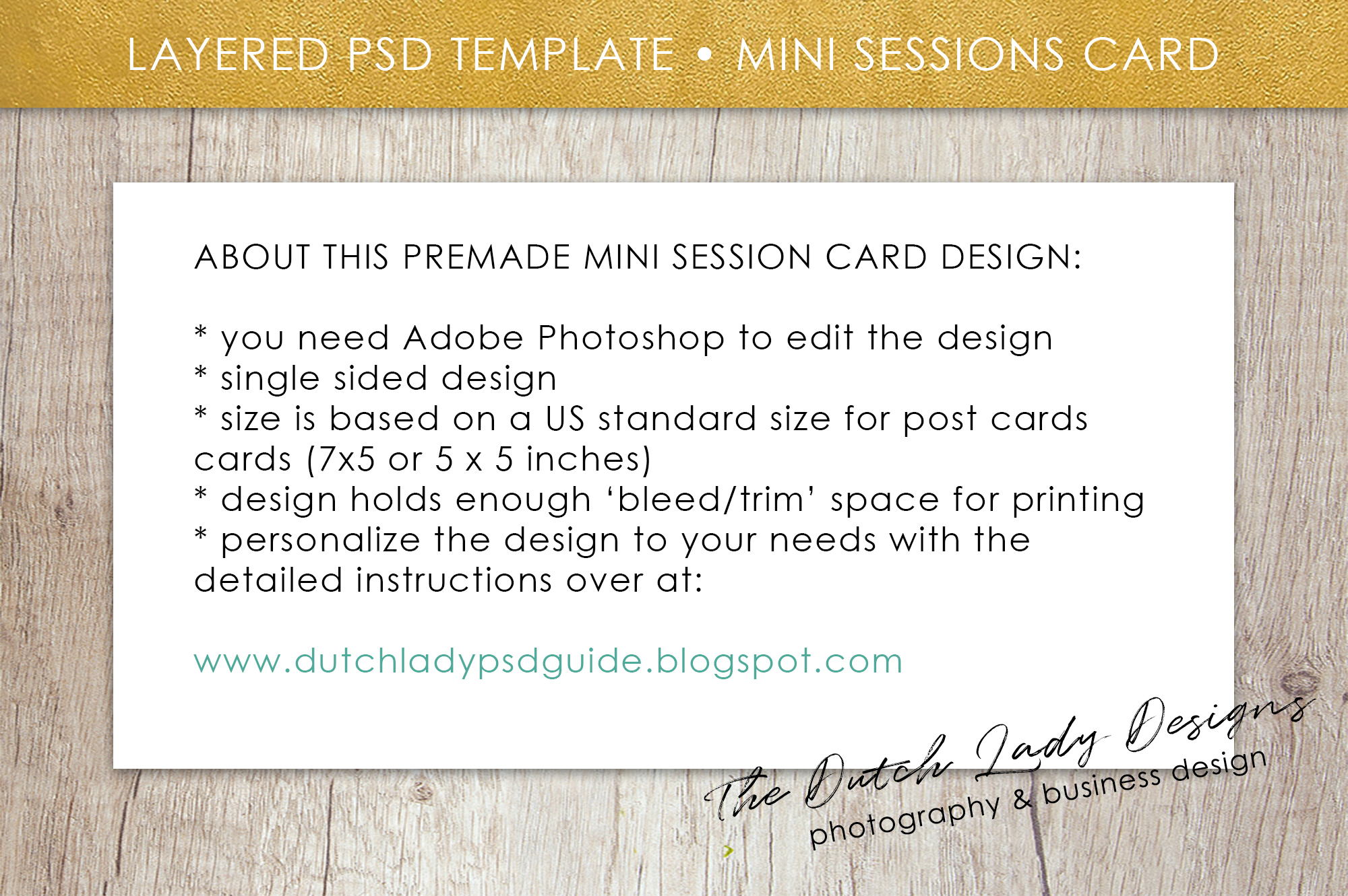 PSD Spring Photo Session Card Template - Design #35 example image 5