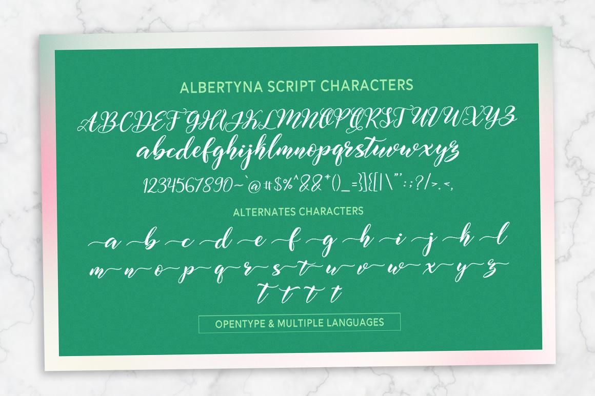 Albertyna Script example image 12