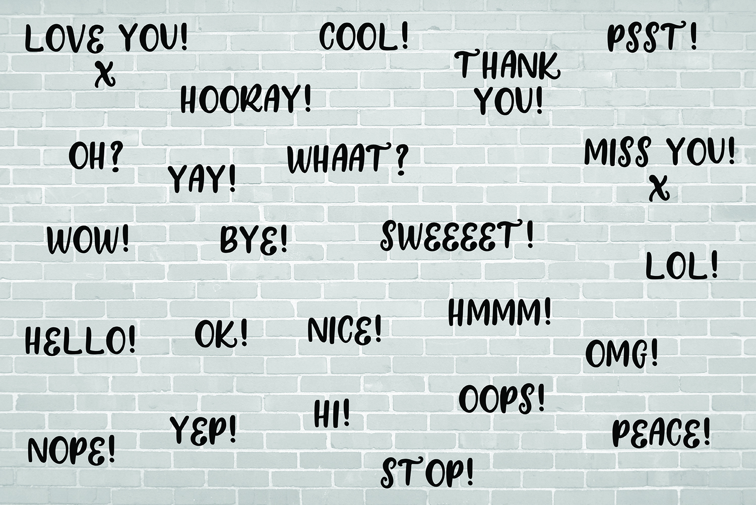 24 Hand Drawn Black and White Speech Bubbles Doodle Clipart example image 4