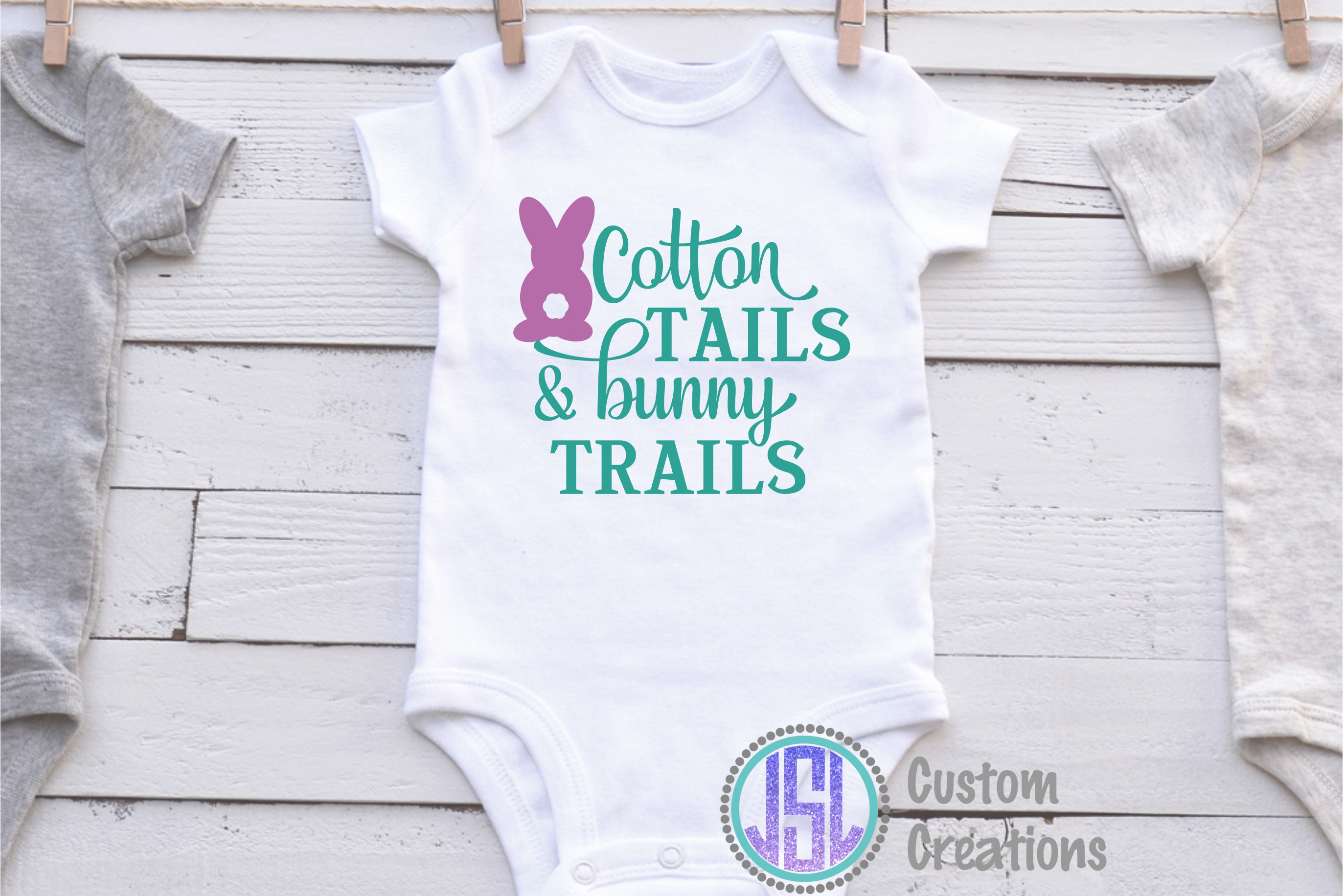 Cotton Tails & Bunny Trails | SVG DXF EPS PNG Cut Files example image 2