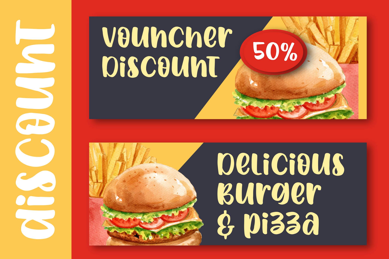 Spicy Burger - Delicious Unique Font example image 4