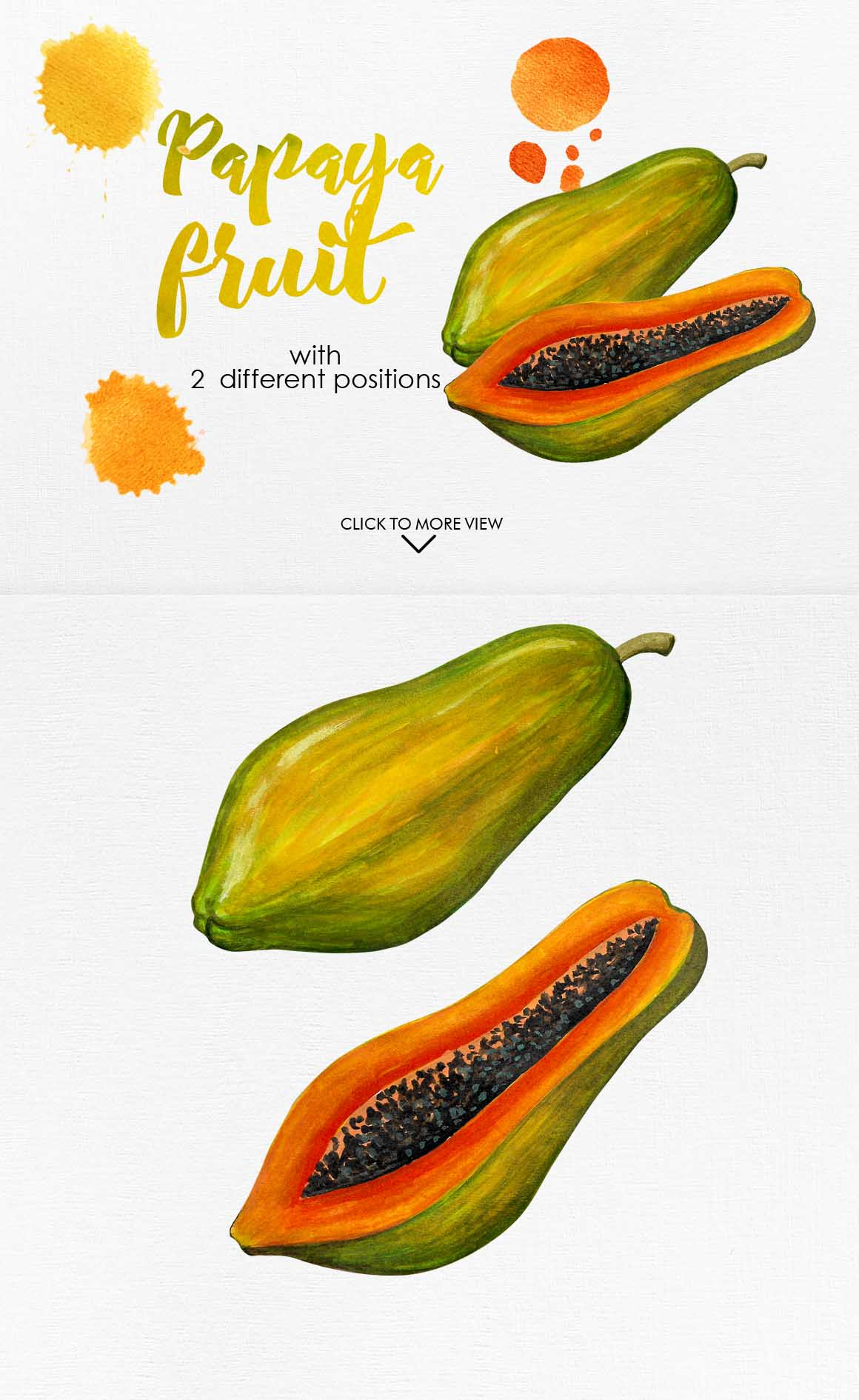 Watercolor Fruits Vol. 3 example image 11