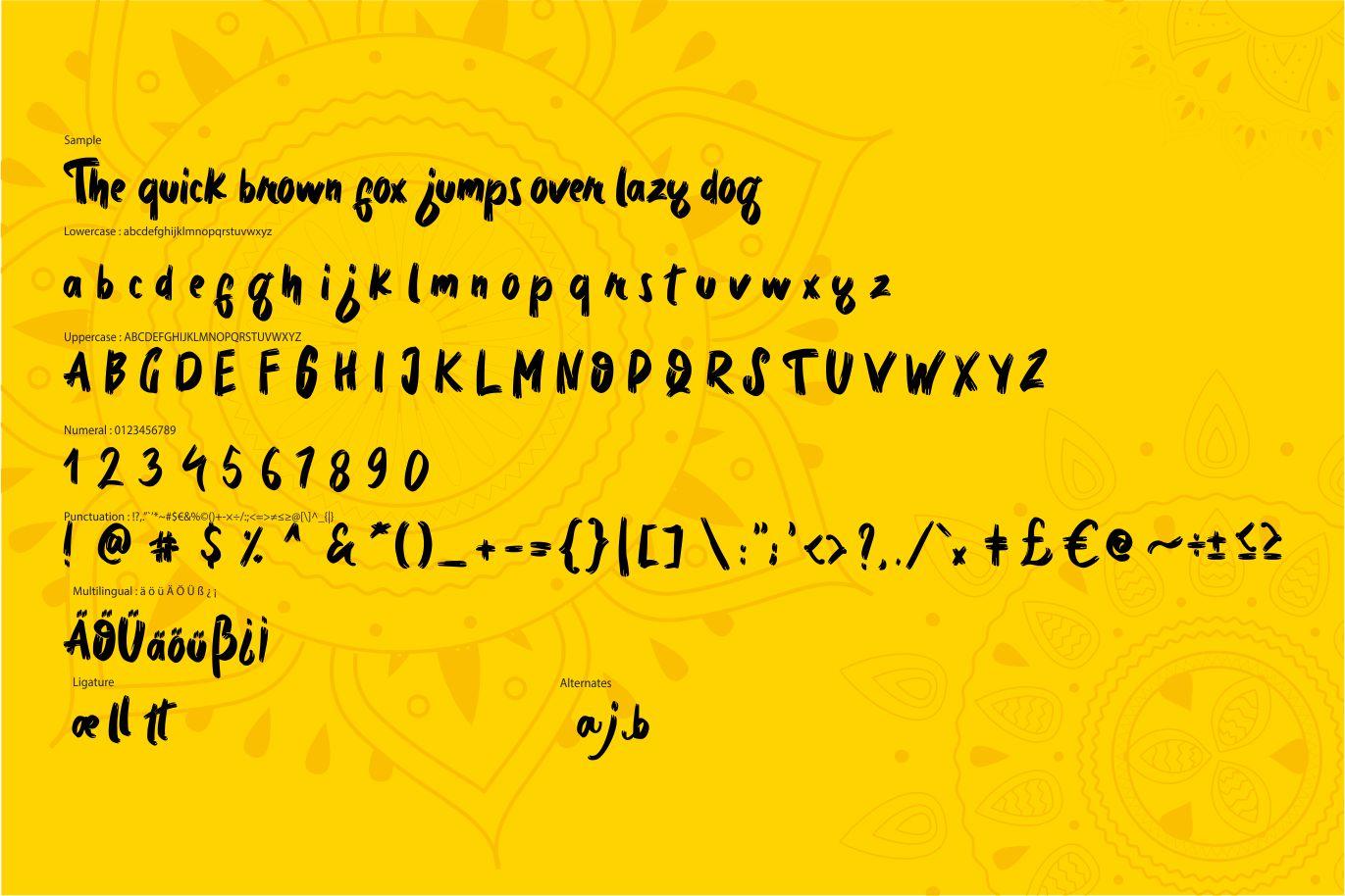 Bedmifo | Characteristics Script Font example image 6
