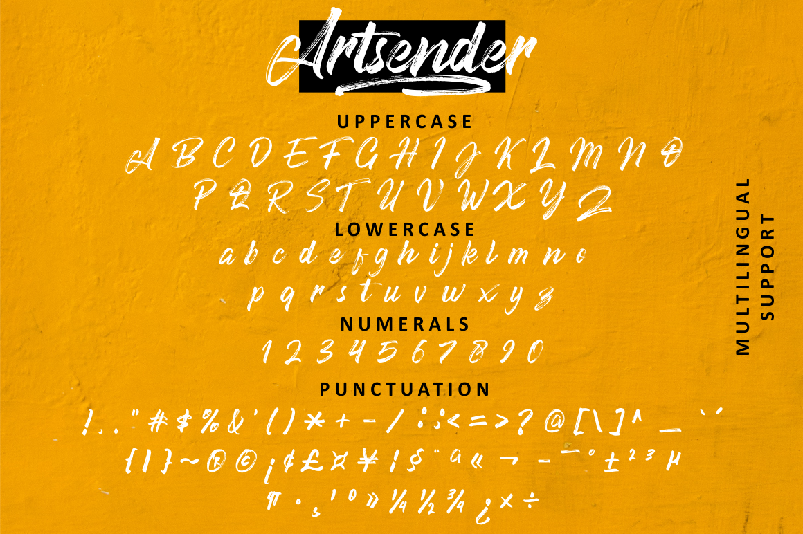 Artsender Brush Calligraphy Font example image 7