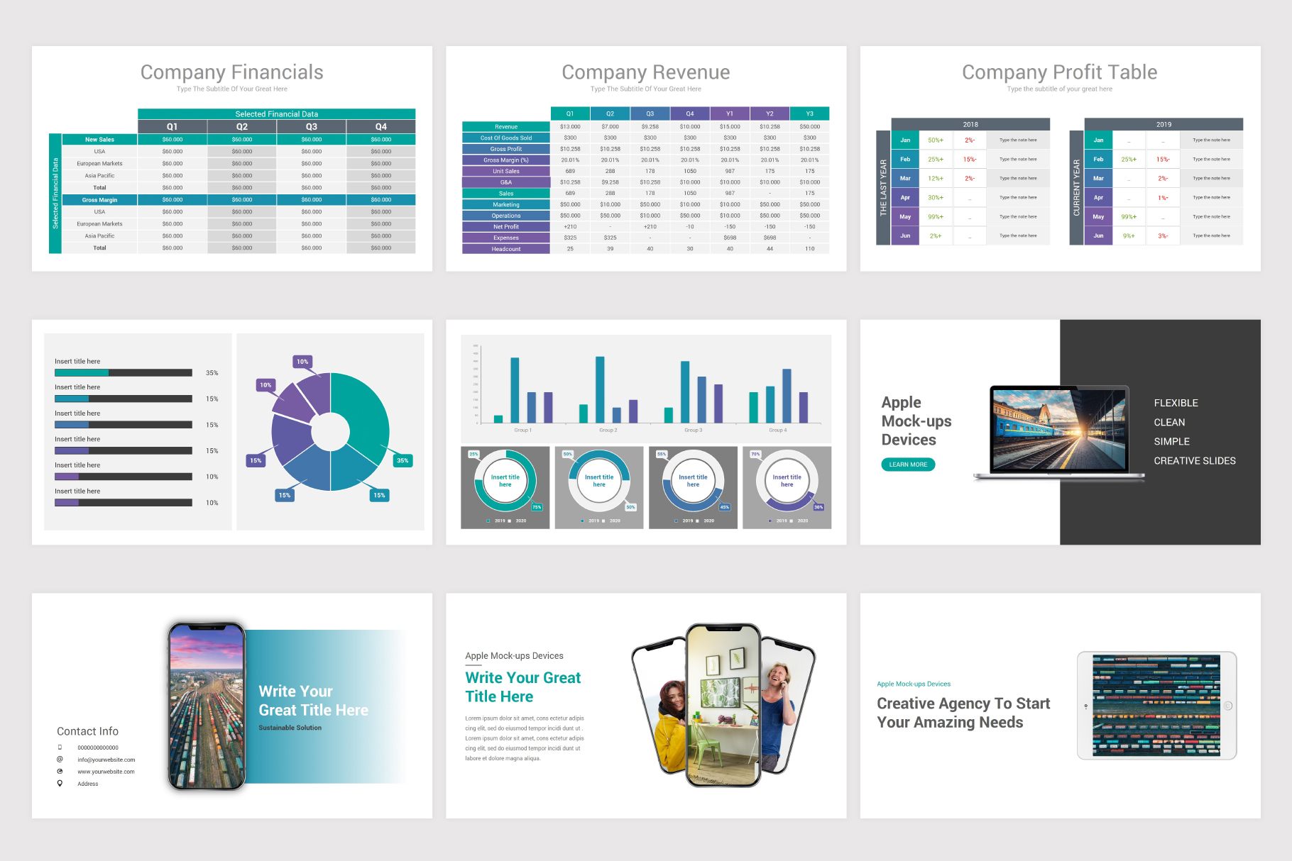 Annual Report Keynote Template example image 16