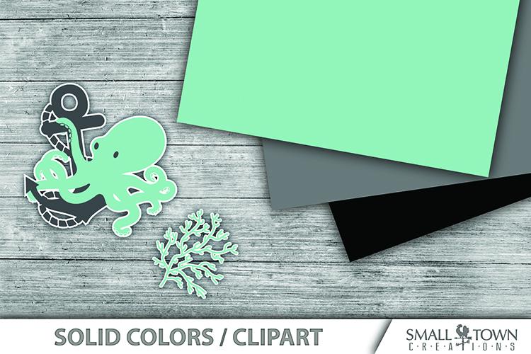 Octopus, Nautical, Ocean, pattern paper, PRINT, CUT & DESIGN example image 4