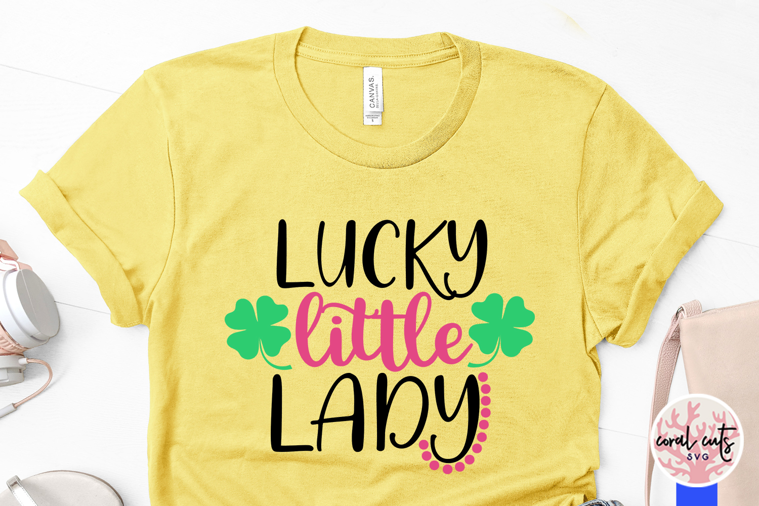 Lucky little lady - St. Patrick's Day SVG EPS DXF PNG example image 3