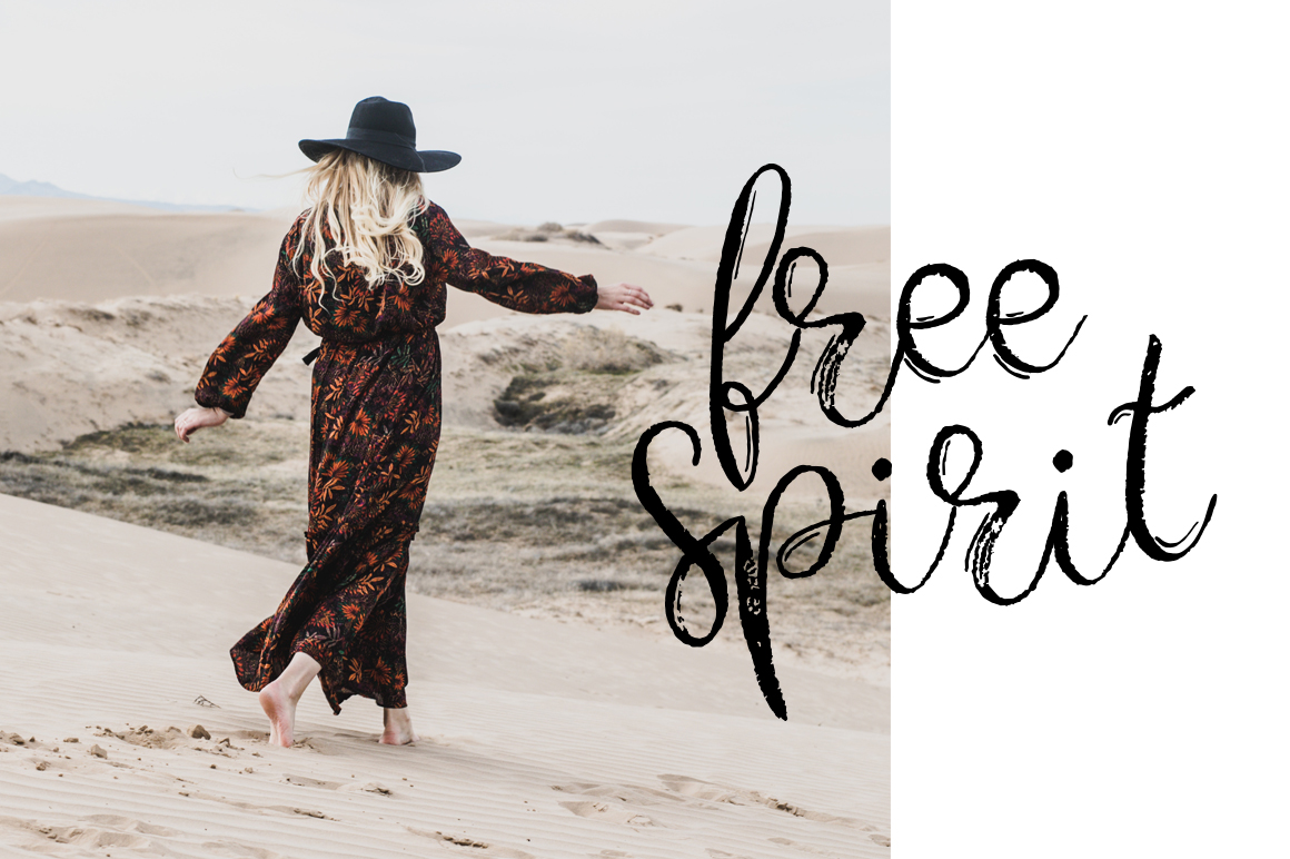 Gypsy Soul.Textured Brush Font+bonus example image 2