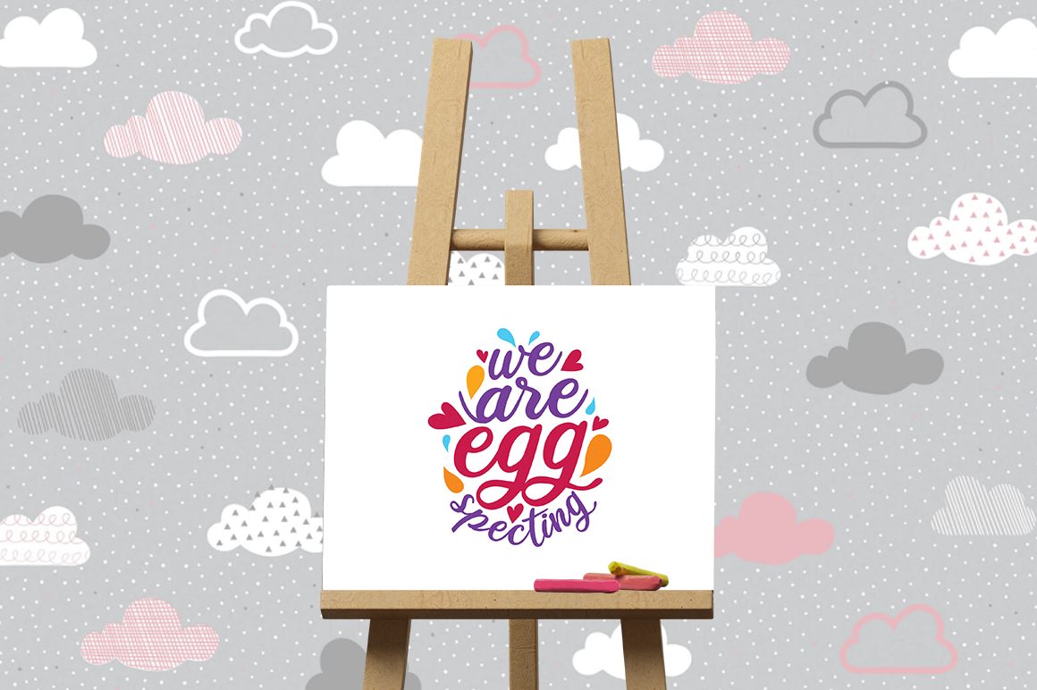 Pregnancy Announcement SVG Cut Files - We are eggspecting example image 3