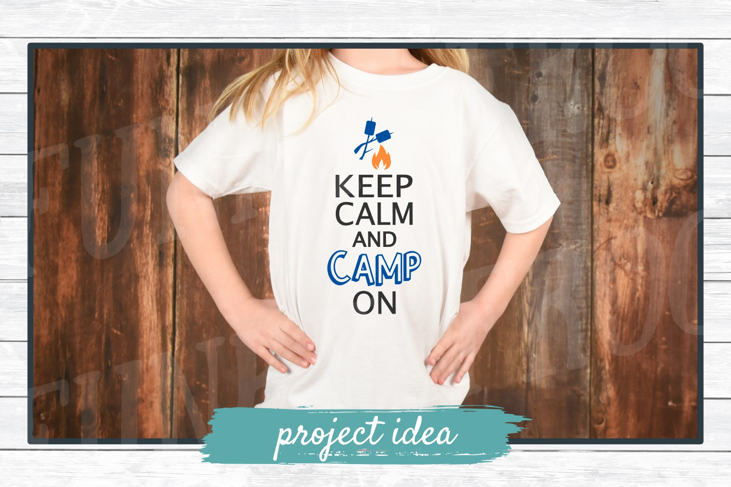 Keep Calm and Camp On, SVG Cut File for Crafters example image 2