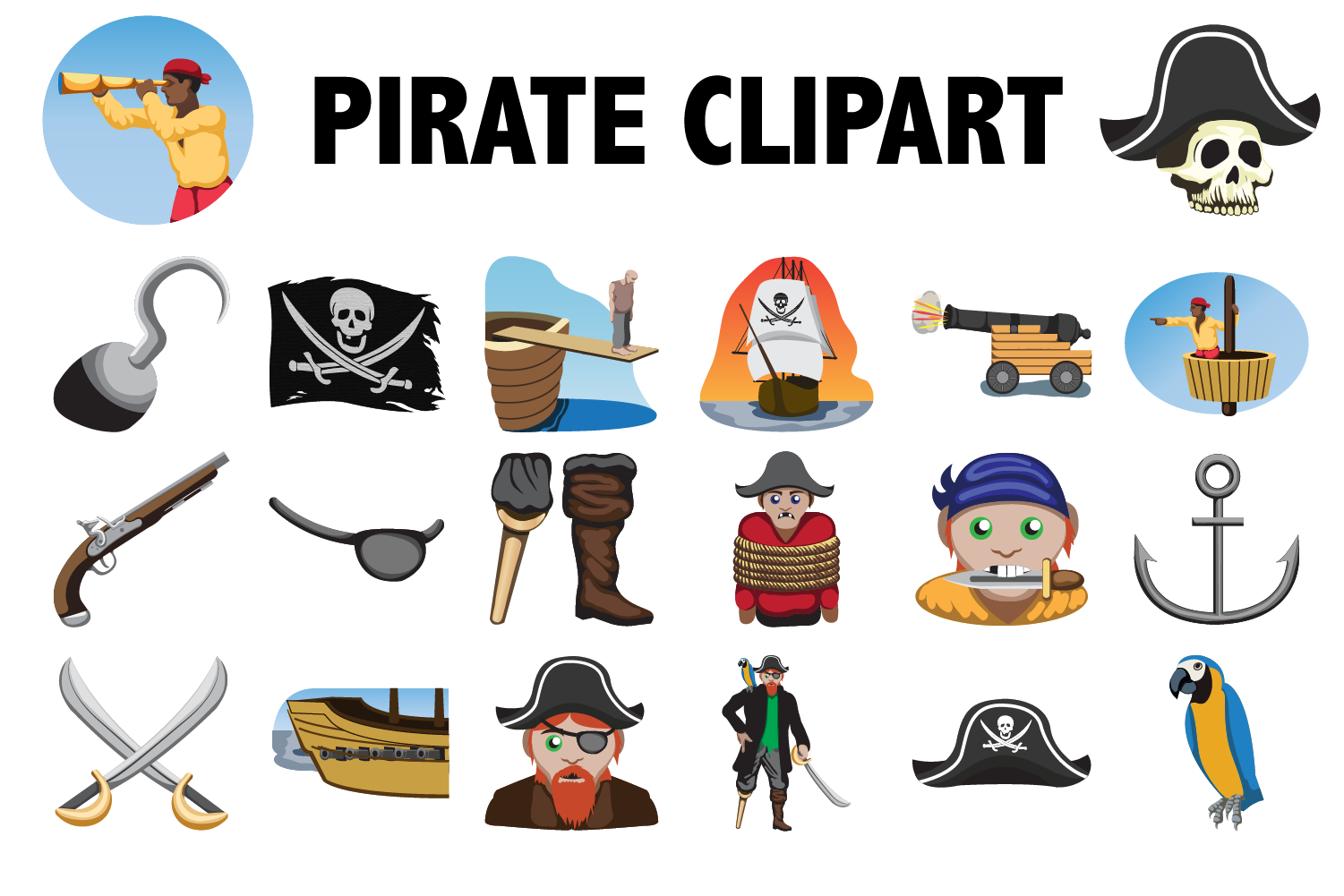 Pirate Clipart example image 1