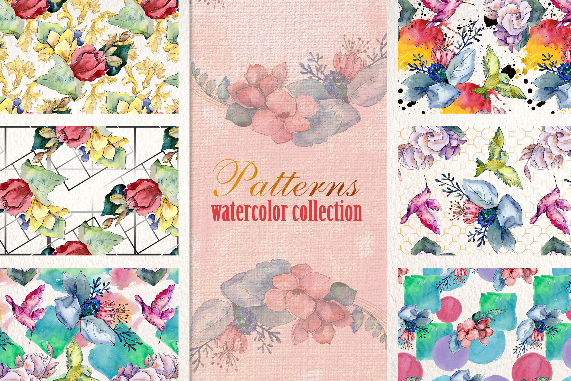 Bouquet gifts of nature watercolor png example image 3