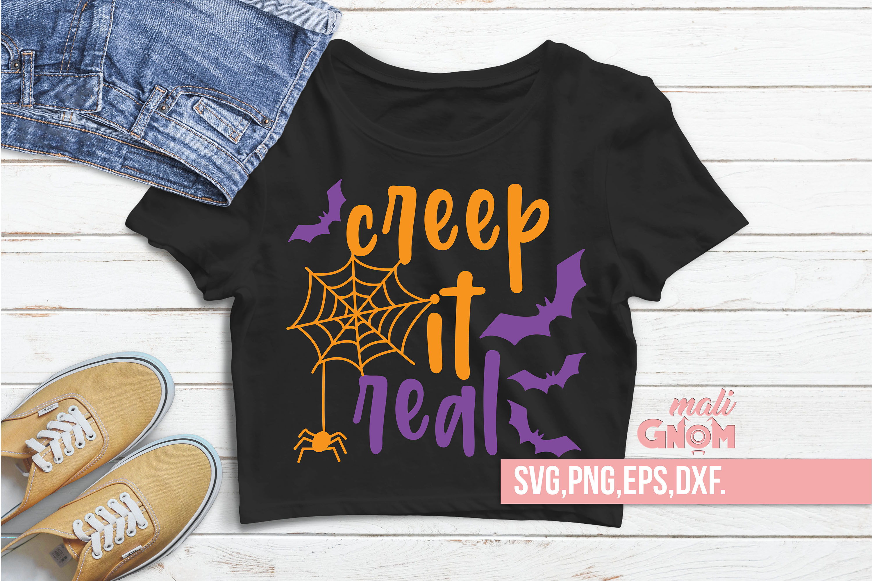 Creep It Real SVG, Halloween SVG file, Trick or Treat Bag example image 2