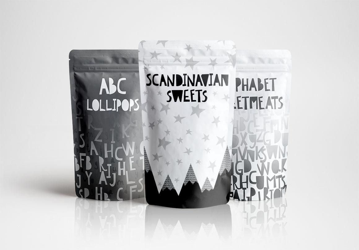 Scandinavian kids font & patterns example image 10