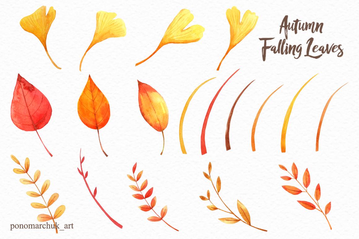 Autumn falling leaves example image 5
