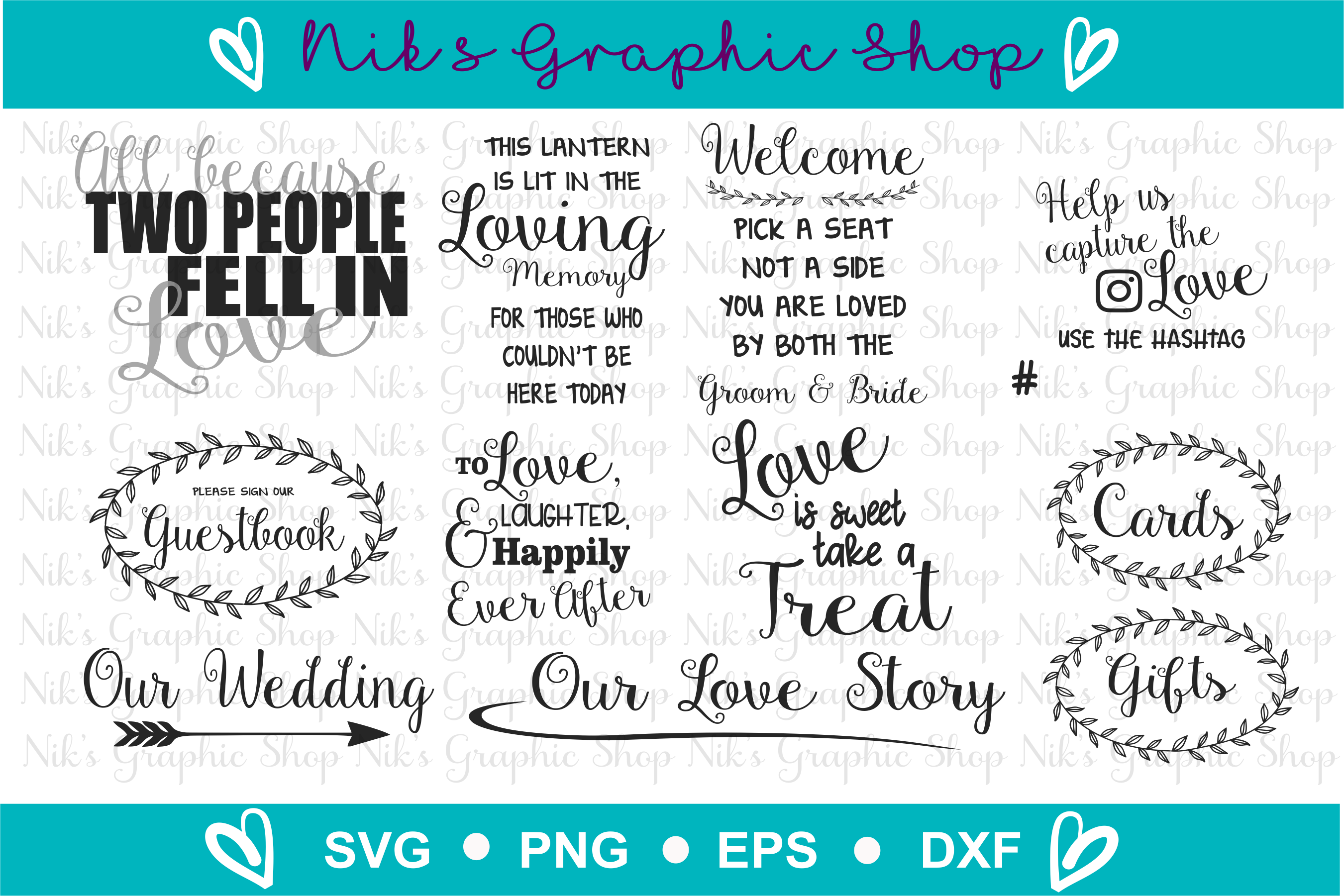 Wedding Sign Svgs, Wedding Svg, Sign Svgs, Love Svgs example image 8