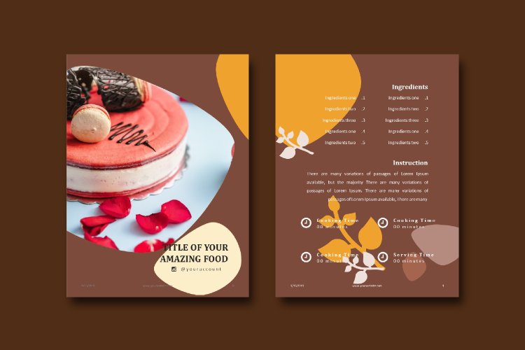16 Pages Recipe eBook Template bakery powerpoint template example image 5