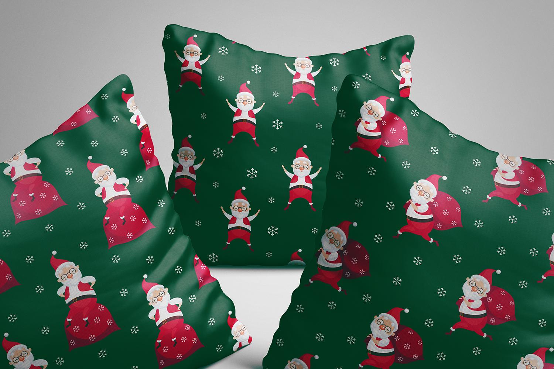 Funny Santa. Christmas clip arts and seamless patterns. example image 3