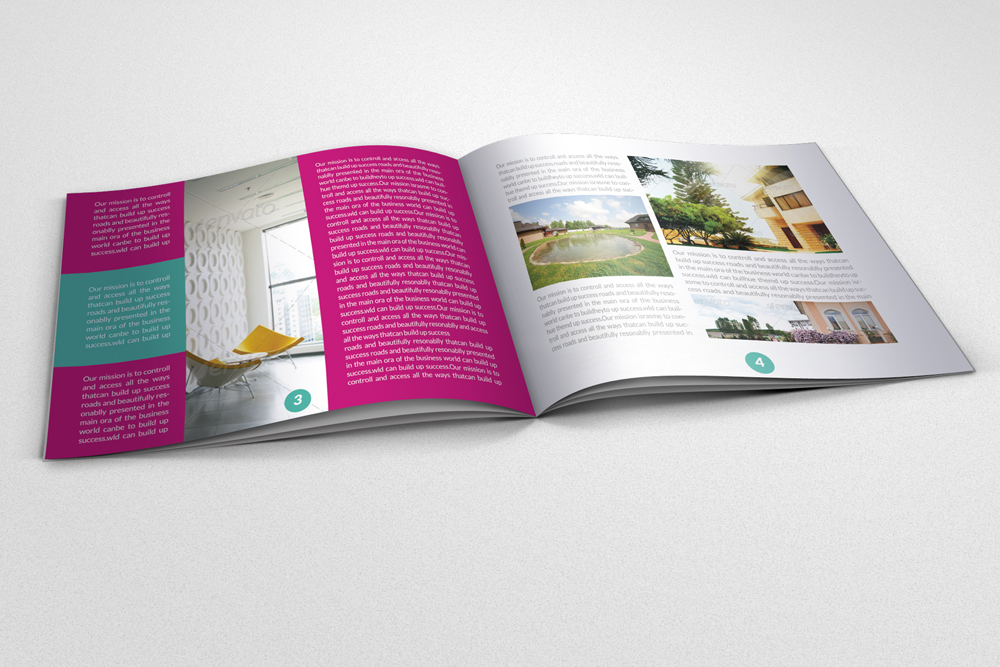 20 Pages Multi Use Minimal Square Brochure example image 8