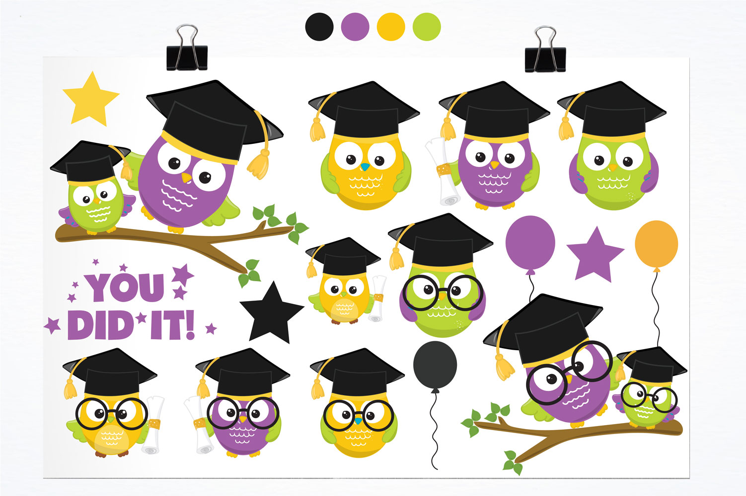 Graduation Owls Cute Graphics example image 2