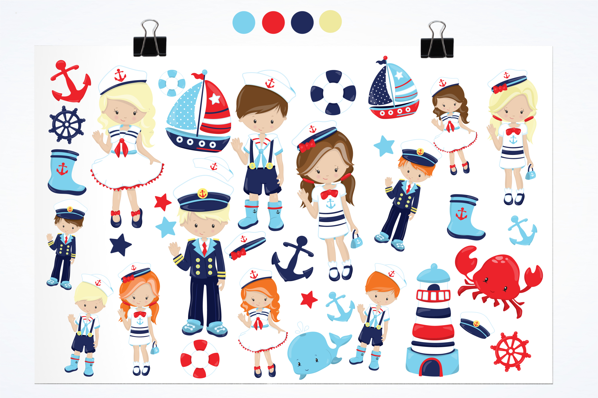 Nautical graphics and illustrations example image 2