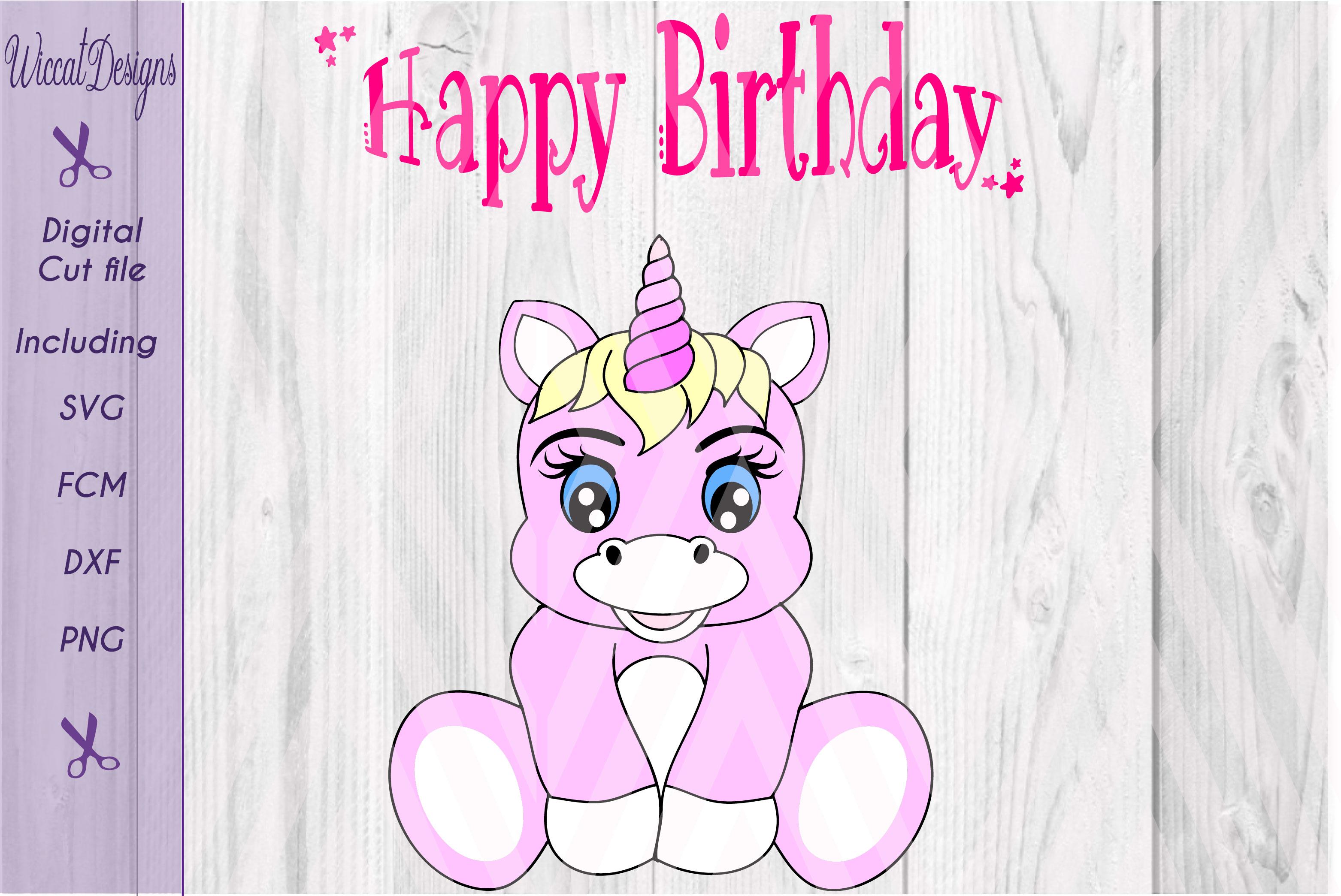 Baby unicorn cut files, cute unicorn design, example image 1