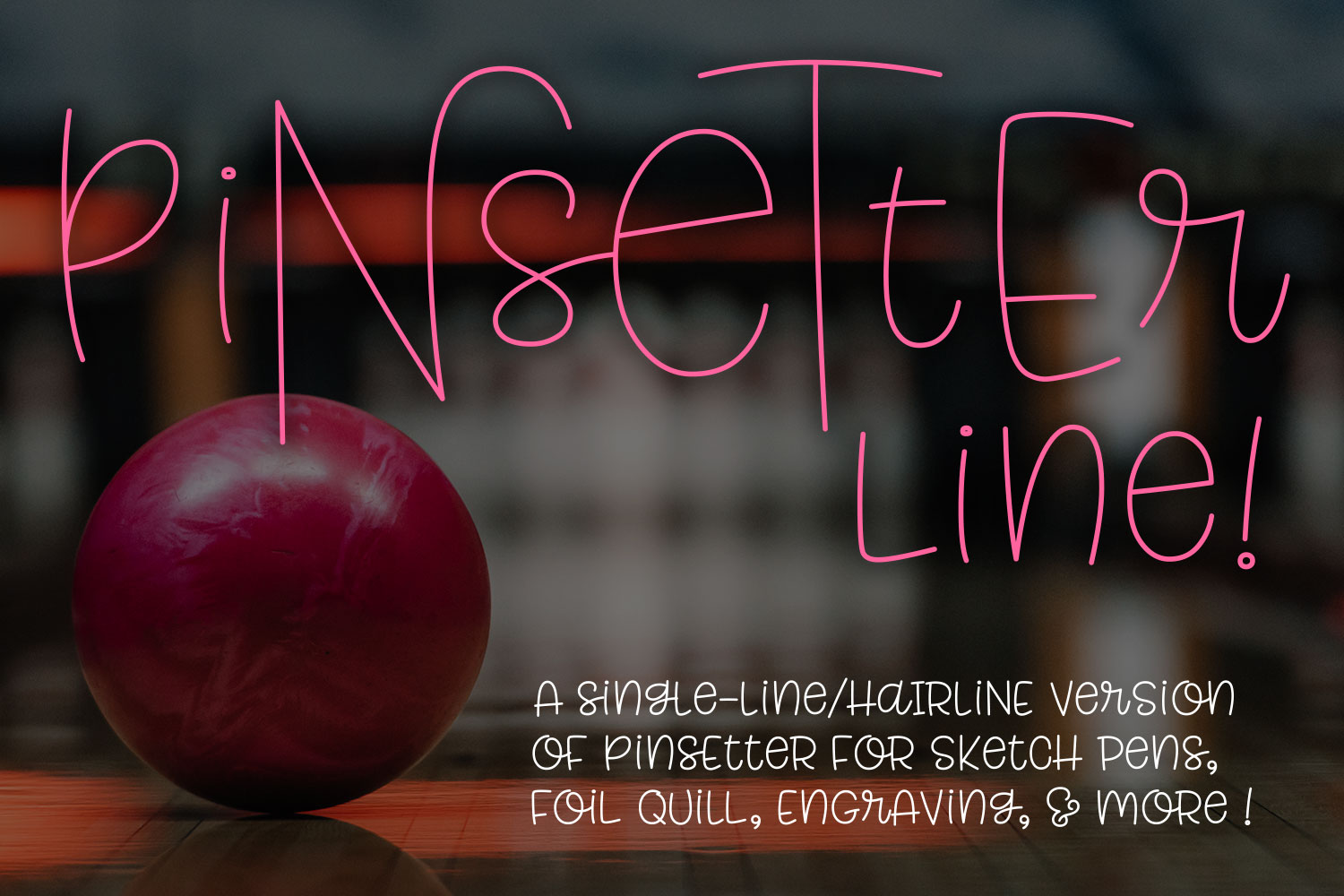 Pinsetter Line - for single-line and hairline sketch quill! example image 1